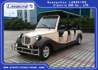 72V Energy Saving Classic Golf Carts With 4 Rows Coffee white Colour Vintage Type