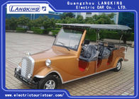 Luxurious Golden Electric Vintage Cars 8 Person Whole Metal Body With Cargo Box