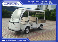 White 4 Passenger Electric Golf Cart , Factory Electric Cargo Vehicle 70km Range