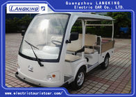 White Color 4 Passenger Electric Golf Carts / Electric Cargo Vehicle