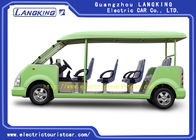 Capacious 11 Seats Green Electric Shuttle Car Resort Vehicles High Performance
