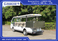 Cool 11 Seats Cargo Electric Sightseeing Vehicle With Small Toplight 72V 7.5KW