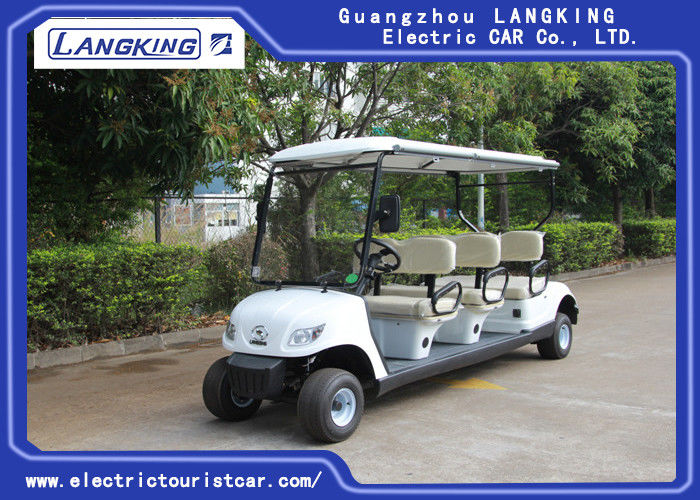 Blue Lifted Electric Golf Carts , 6 Passenger Golf Cart 25% Climbing Ability